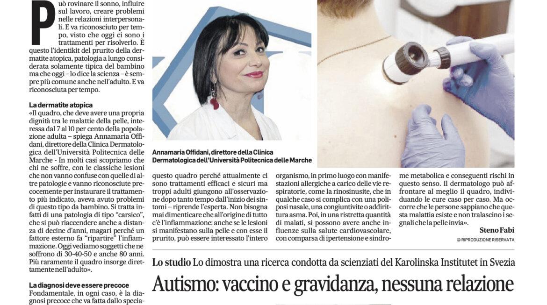 """Riflettori sulla Dermatite Atopica """"Il Corriere Adriatico"""""""
