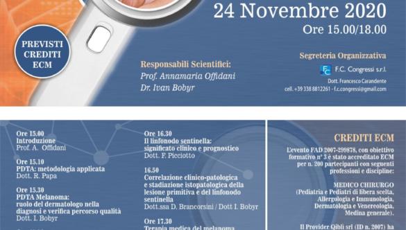 Webinar: Il PDTA del Melanoma 24 Novembre 2020