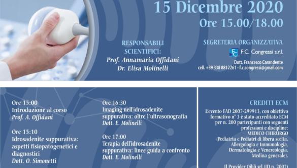 Webinar: Ultrasonografia ed HS stato dell'arte 15 Dicembre 2020