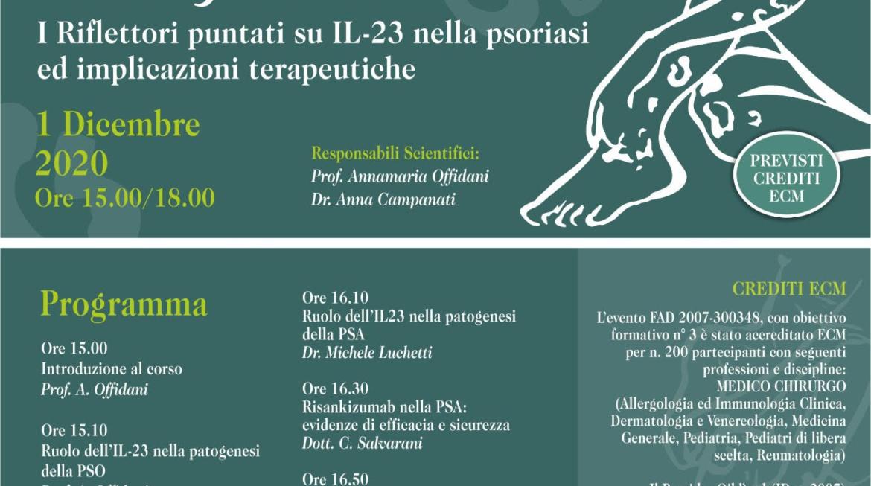 Webinar: Nuovi target terapeutici della Psoriasi 1 Dicembre 2020