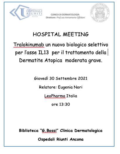 Hospital Meeting 30 Settembre 2021