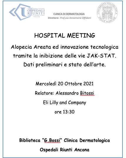 Hospital Meeting Mercoledì 20 Ottobre 2021